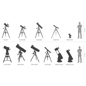 Télescope Skywatcher AC 80/400 StarTravel 80 - Trépied de table