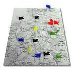 20 marker flags, blue