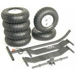 JMI Larges roues pneumatiques, 25 cm