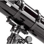 El tubo se asienta sobre un carril de montaje de la montura. Montaje rápido del tubo.