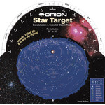 Carte du ciel Orion Star Target Planisphere 30-50 degree north
