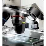 Avec la tourelle, les trois lentilles 4 x, 10 x et 40 x,  peuvent être changées rapidement.