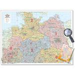 Bacher Verlag PLZ-Karte Straßenkarte Norddeutschland 1:500.000