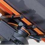 Il massiccio dispositivo di serraggio a sgancio rapido garantisce perfetta stabilità e enorme praticità