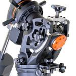 The heart of the CGE Pro mount: The equatorial head with its large range of adjustments