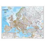 National Geographic Mapa kontynentów Europa polityczny , laminowana
