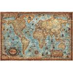 RayWorld Antyczny mapa świata nowoczesnego, laminowana