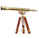 Omegon Telescópio de latão MT 80/1000 28x