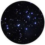 … le Pleiadi a un ingrandimento di 25x...