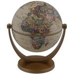 Stellanova Mini-Globus Dreh-Schwenk Globus mit IQ-Quiz, Antikdesign 10cm