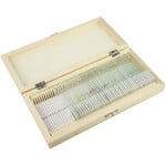 Omegon Prepared slide set, 40 slides in a wooden box