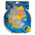 HCM Kinzel Mapa com disco giratório Alemanha & Europa (textos em alemão)