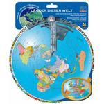 HCM Kinzel Mapa com disco giratório Países do mundo (texto em alemão)