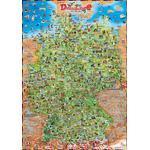 Stellanova Mapas infantiles Mapa ilustrado de Alemania Dino