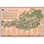 """Stellanova Carte de l'Autriche pour enfants """"Dino's Illustrierte Österreichkarte"""""""
