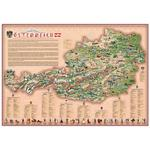 Stellanova Mappa per Bambini Carta dell'Austria illustrata Dino