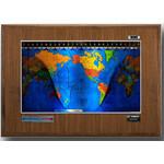 Geochron Boardroom model in real walnut veneer silver bordered design