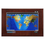 Geochron Boardroom model in real mahogany veneer silver bordered design