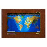 Geochron Boardroom model in real cherry veneer gold bordered design