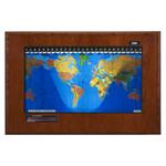 Geochron Boardroom model in real cherry veneer and black bordered design
