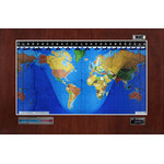 Geochron Original Kilburg in real mahogany veneer and silver bordered design