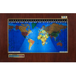 Geochron Original Kilburg in real mahogany veneer black bordered design