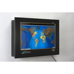 Geochron Original Kilburg in black anodised aluminium gold bordered design