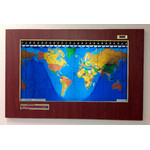 Geochron Original Kilburg in Boston cherry plastic gold bordered design