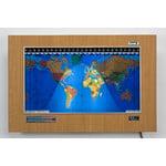 Geochron Kilburg Original de plástico color arce Ruso con marco plateado