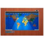 Geochron Original Kilburg wereldkaart, kunststofuitvoering in Hayward Cherry, met zilverkleurige sierlijst (Engels)