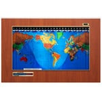 "Geochron Modèle ""Original Kilburg"", finition PVC design Hayward Cherry avec moulures couleur or"