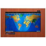 Geochron Kilburg Original de plástico color cereza Hayward con marco negro