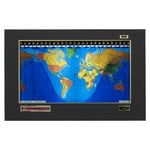 "Geochron Modèle ""Original Kilburg"", finition PVC design Black Goatskin avec moulures couleur or"