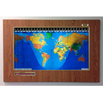 Geochron Original Kilburg in designer oak plastic gold bordered design