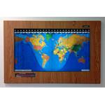 Geochron Kilburg originale in plastica Designer Oak e modanature nere