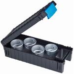 Schweizer Lupa Set profesional lupă ceasornicar  Tech-Line 6x; 8x; 10x; 15x în cutie depozitare Tech-Line