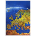 Bacher Verlag Carte des continents Europe MAIR Panorama