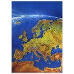 Bacher Verlag Mapa panorámico de Europa MAIR