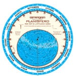 Omegon Carta Stellare Planisfero
