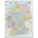 Bacher Verlag Postleitzahlenkarte Deutschland 1:450.000 laminiert