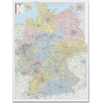 Bacher Verlag map with postal codes Germany 1:450.000 laminated