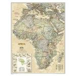 National Geographic Mappa Continentale Carta antica dell'Africa