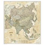 National Geographic Mappa Continentale Carta antica dell'Asia