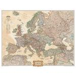 National Geographic 3 section antique map of Europe