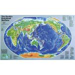 National Geographic Map The fissured surface of the earth