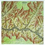 National Geographic Mapa regional Grand Canyon