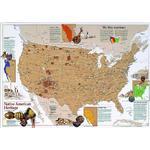 Carte géographique National Geographic Indigène américain héritier