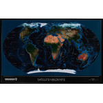 Columbus TWKGF2520BL large format satellite / political world map, ting compatible