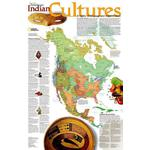 National Geographic Kaart Indian Cultures (Engels)