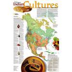 National Geographic Mapa kontynentów Kultury indiańskie